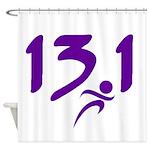 Purple 13.1 half-marathon Shower Curtain