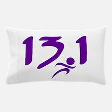 Purple 13.1 half-marathon Pillow Case