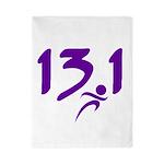 Purple 13.1 half-marathon Twin Duvet