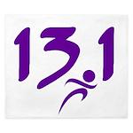 Purple 13.1 half-marathon King Duvet