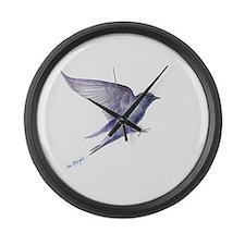 Purple Martin GIFT Large Wall Clock