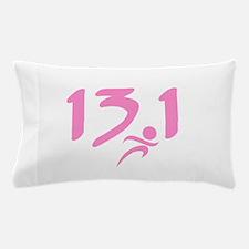 Pink 13.1 half-marathon Pillow Case