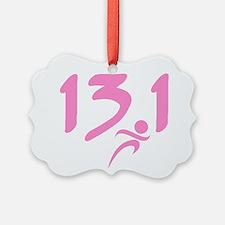 Pink 13.1 half-marathon Ornament