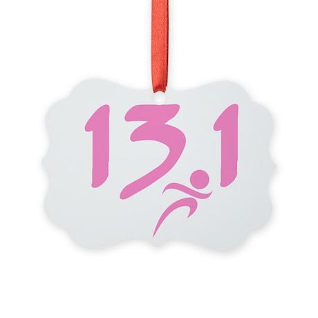 Pink 13.1 half-marathon Picture Ornament