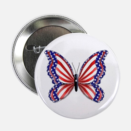 Patriotic Butterfly Button