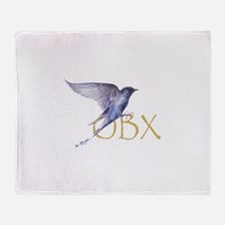 OBX purple martin Throw Blanket