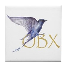 OBX purple martin Tile Coaster
