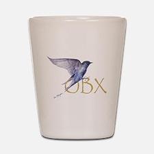 OBX purple martin Shot Glass