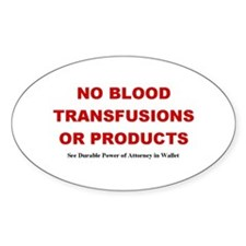 No Blood Decal