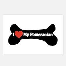 I Love My Pomeranian - Dog Bone Postcards (Package