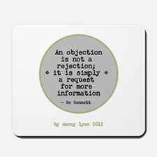 Funny Objection Rejection Mousepad