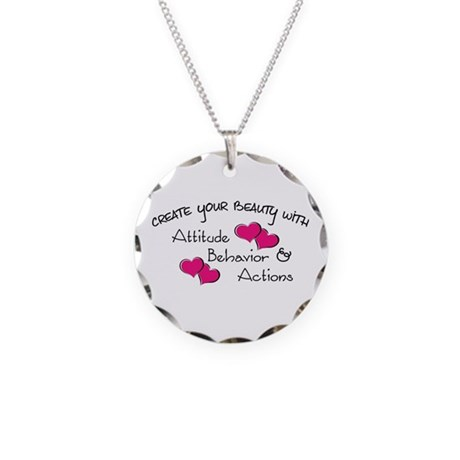 Create your beauty Necklace Circle Charm