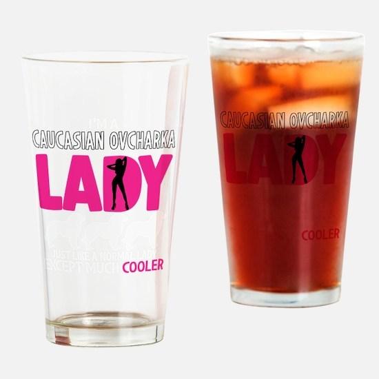 Cute Caucasian ovcharka Drinking Glass