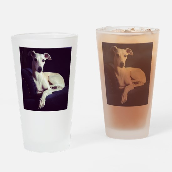 The Whippet Is In Drinking Glass