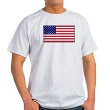 """American Flag"" Ash Grey T-Shirt"