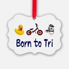 Born to Tri Ornament