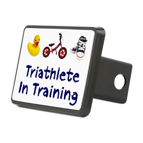 Triathlete in Training Rectangular Hitch Cover