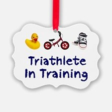 Triathlete in Training Ornament