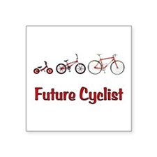 """Future Cyclist Square Sticker 3"""" x 3"""""""
