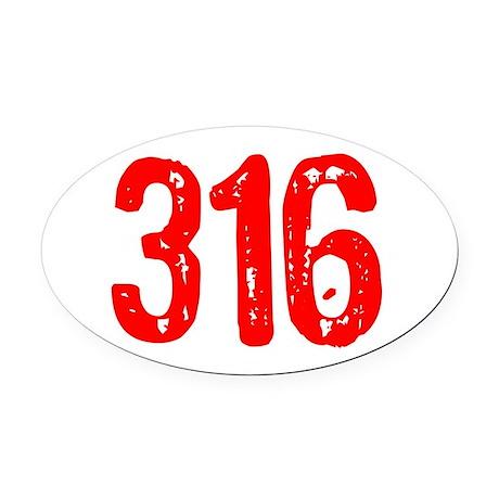 316 Oval Car Magnet