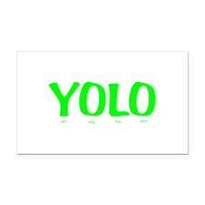 YOLO Rectangle Car Magnet