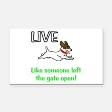 Live the gates open Rectangle Car Magnet