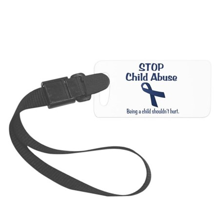 Stop Child Abuse It Hurts Small Luggage Tag