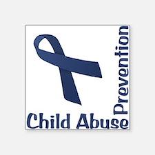 """Child Abuse Prevention Square Sticker 3"""" x 3"""""""