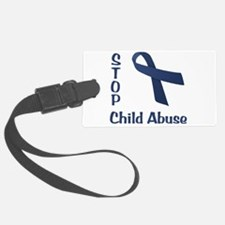 Stop Child Abuse Luggage Tag