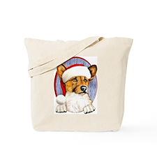 Santa Corgi Tote Bag