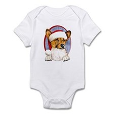 Santa Corgi Infant Creeper