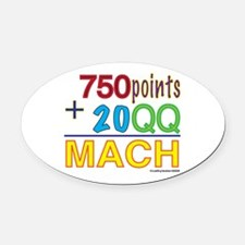 MACHformula.png Oval Car Magnet