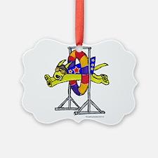 Super Doggie Jump Ornament