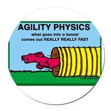 AgilityPhysics.png Round Car Magnet