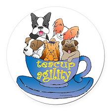 teacup.png Round Car Magnet
