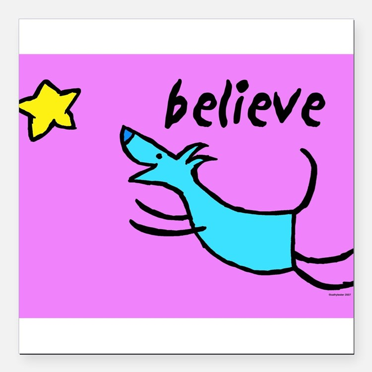 "300believe.jpg Square Car Magnet 3"" x 3"""
