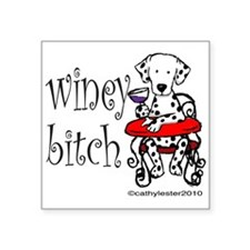 "wineyDAL.png Square Sticker 3"" x 3"""