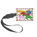 Herd o pups.png Large Luggage Tag