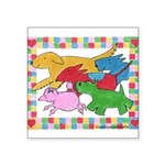 Herd o pups.png Square Sticker 3