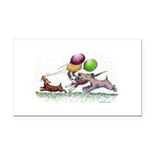 DogballoonParty_std.png Rectangle Car Magnet