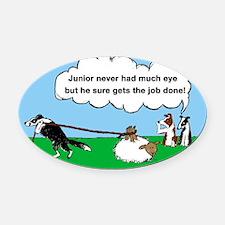 Juniorcartoon.png Oval Car Magnet