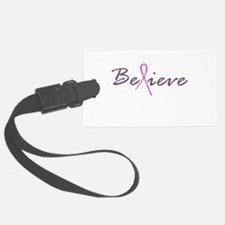 Believe Breast Cancer Luggage Tag