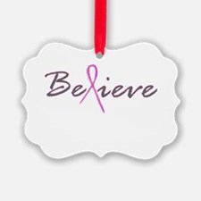 Believe Breast Cancer Ornament