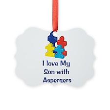 Love Aspergers Son Ornament