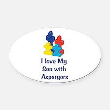 Love Aspergers Son Oval Car Magnet