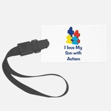 Love Autism Son Luggage Tag