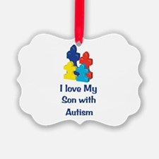 Love Autism Son Ornament