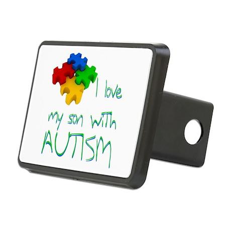 Autistic son Rectangular Hitch Cover