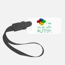 Autistic son Luggage Tag
