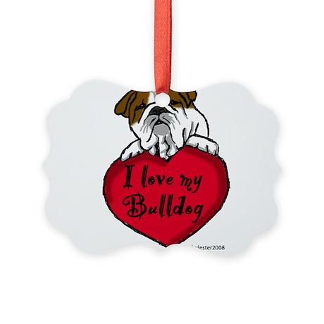 Bulldogheart.png Picture Ornament
